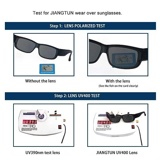 730b4abb771 Amazon.com  Unisex Fit Over Glasses Sunglasses HD Vision Polarized Lens  Over Prescription Glasses Rectangular Durable Frame  Clothing