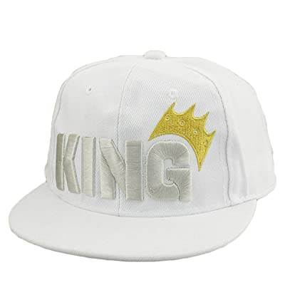 WIFORNT Infant & Toddler Hip Hop Snapback Flat Brim Hats Letter King Baseball Cap for Kids Girls Boys Sun Protection