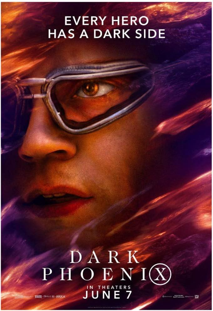 Sanwooden Dark Phoenix Poster 2019 X-Men Movie Quicksilver Art Print for Living Room Home Decor Gift Print On Canvas -50x75cm No Frame