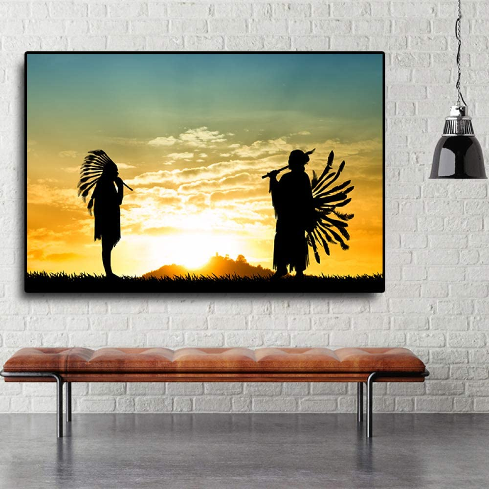 LiMengQi Abstract Canvas Poster Wall Sunset Oil Painting Picture Art Photo Home Decoration (no Frame) A1 60x90CM: Amazon.es: Hogar