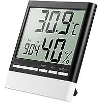 isermeo Termómetro Higrometro Digital con Gran LCD Pantalla