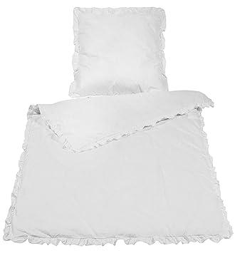 Wometo Bettwäsche Rüschen 100 Baumwolle 135x200 Cm Weiß Vintage