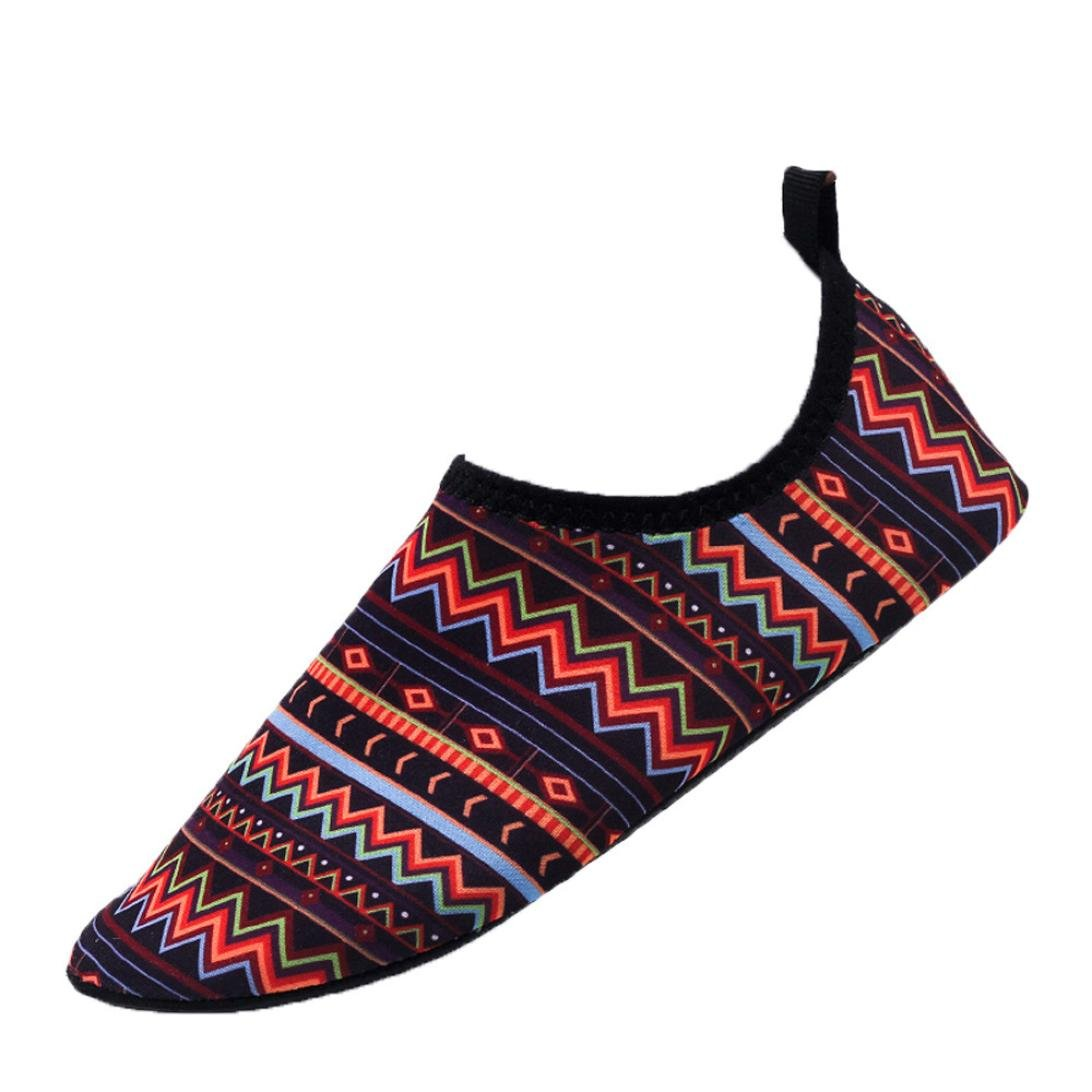 WuyiM 2018 Fashion Barefoot Quick-Dry Water Shoes Aqua Socks for Beach Pool Swim Diving Surf Yoga Exercise for Unisex B07DC1VK3W US:7-7.5|Brown