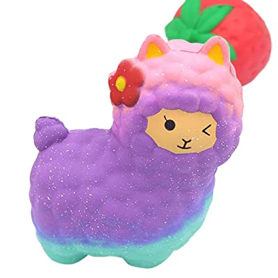 Toys Jumbo Sheep Squishy Cute Alpaca Galaxy Super Slow Rising Scented Fun Animal: Toys & Games