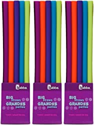 Bubba Big Straws 5ct Reusable Staws, Bold Colors (Pack of 3)