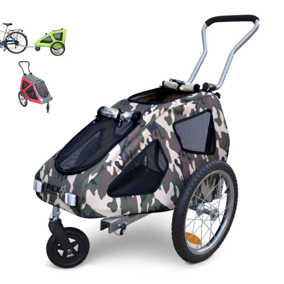 Polironeshop Rex - Remolque y carrito de bicicleta para el transporte de perros