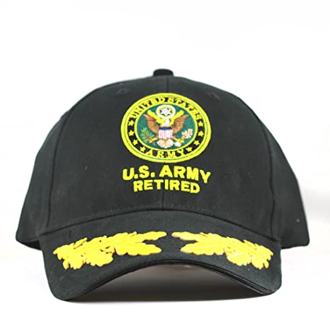 c8c5b533a12 Amazon.com  US Army Retired Cap Scrambled Eggs United States Army Retired  Hats Collectibles  Sports   Outdoors