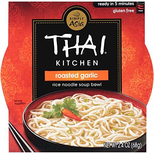Thai Kitchen Gluten Free Roasted Garlic Rice Noodle Soup Bowl, 2.4 oz (Case of (Thai Kitchen Bowl)