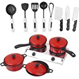 HOMYL Kids Children Plastic Kitchen Cookware Toy Cooking Cookware Pretend Play Toy