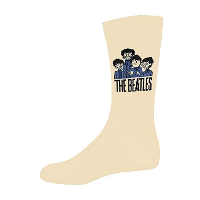 The Beatles Cartoon Group Oficial De las mujeres nuevo Beige Calcetines (UK Size
