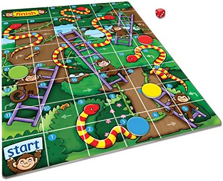 Orchard Toys Jungle Snakes and Ladders - Mini Juego: Orchard Toys: Amazon.es: Juguetes y juegos