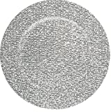 Palais Dinnerware 'Plaque De Charge' Collection - 13'' Elegent Charger Plate (4, Silver Glitter)
