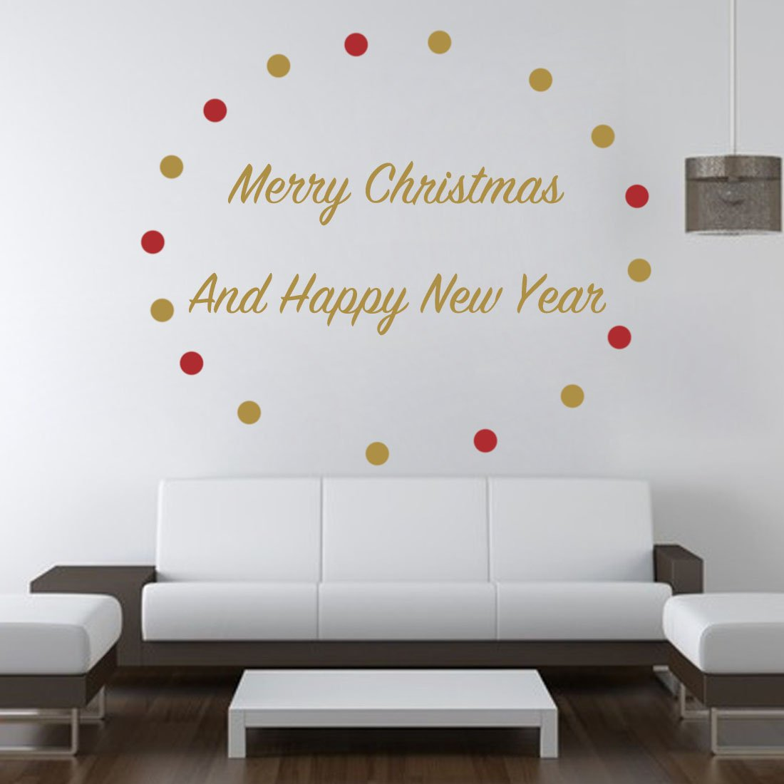 Amazon merry christmas wall decals with wall decal dots amazon merry christmas wall decals with wall decal dots metallic vinyl polka dot decor nursery decal gold home kitchen amipublicfo Gallery