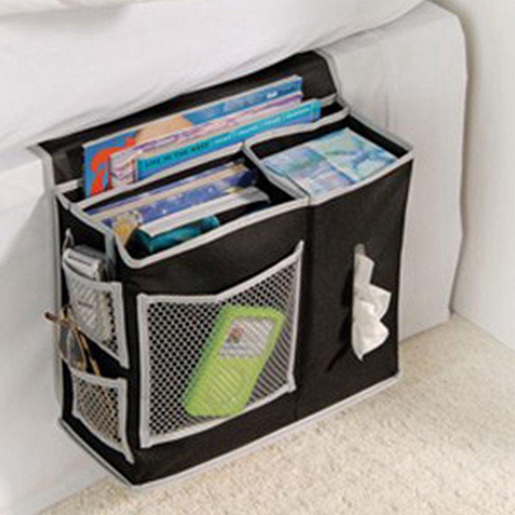 GEZICHTA Chevet de Stockage Organiseur 6/Poches Spacieux Table Cabinet de Rangement Pratique Sac de Rangement Suspendu Remote Caddy Organiseur