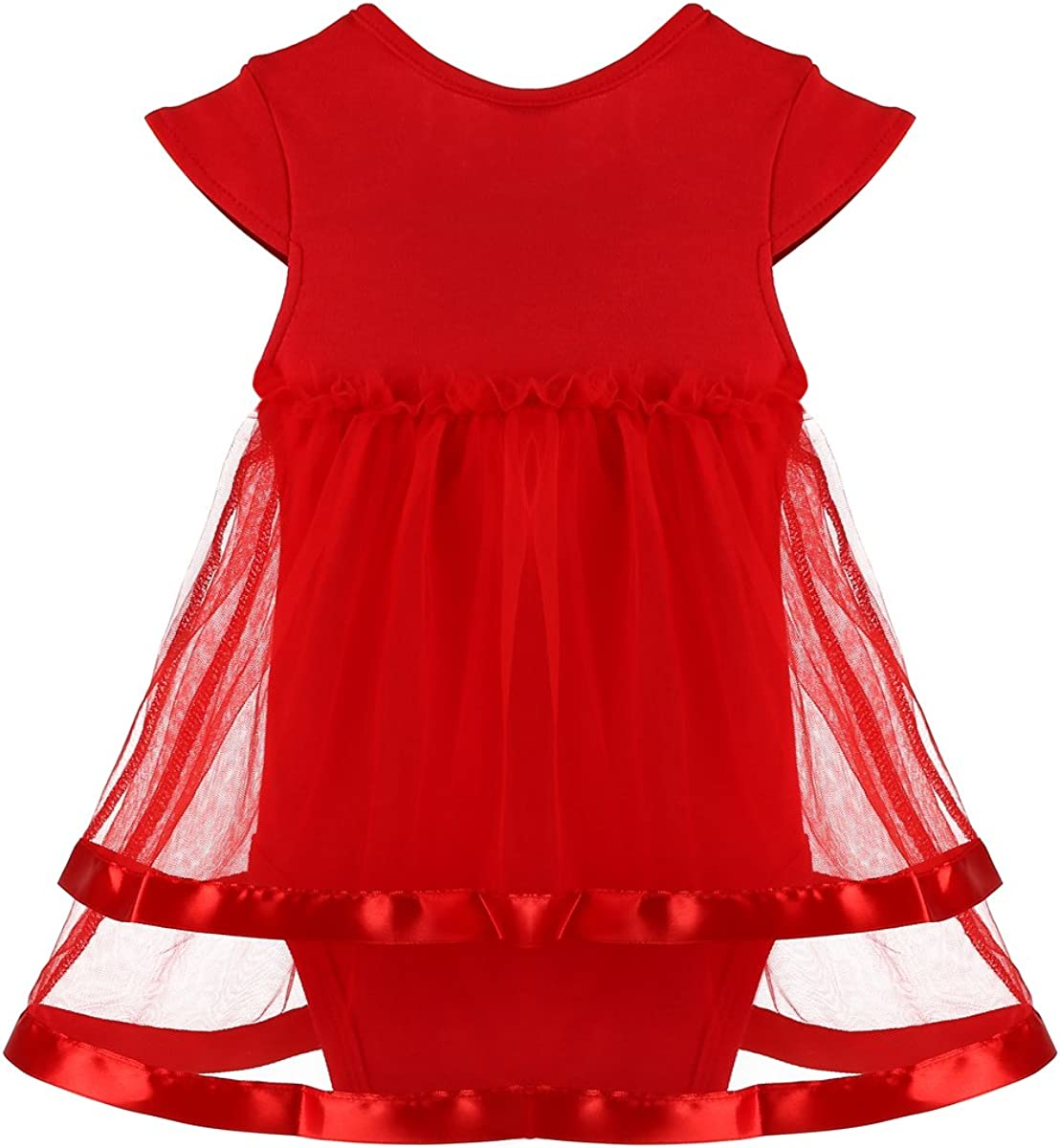 inSowni 3pcs Baby Girl Bodysuit Dress with Flower Headband & Barefoot Sandals