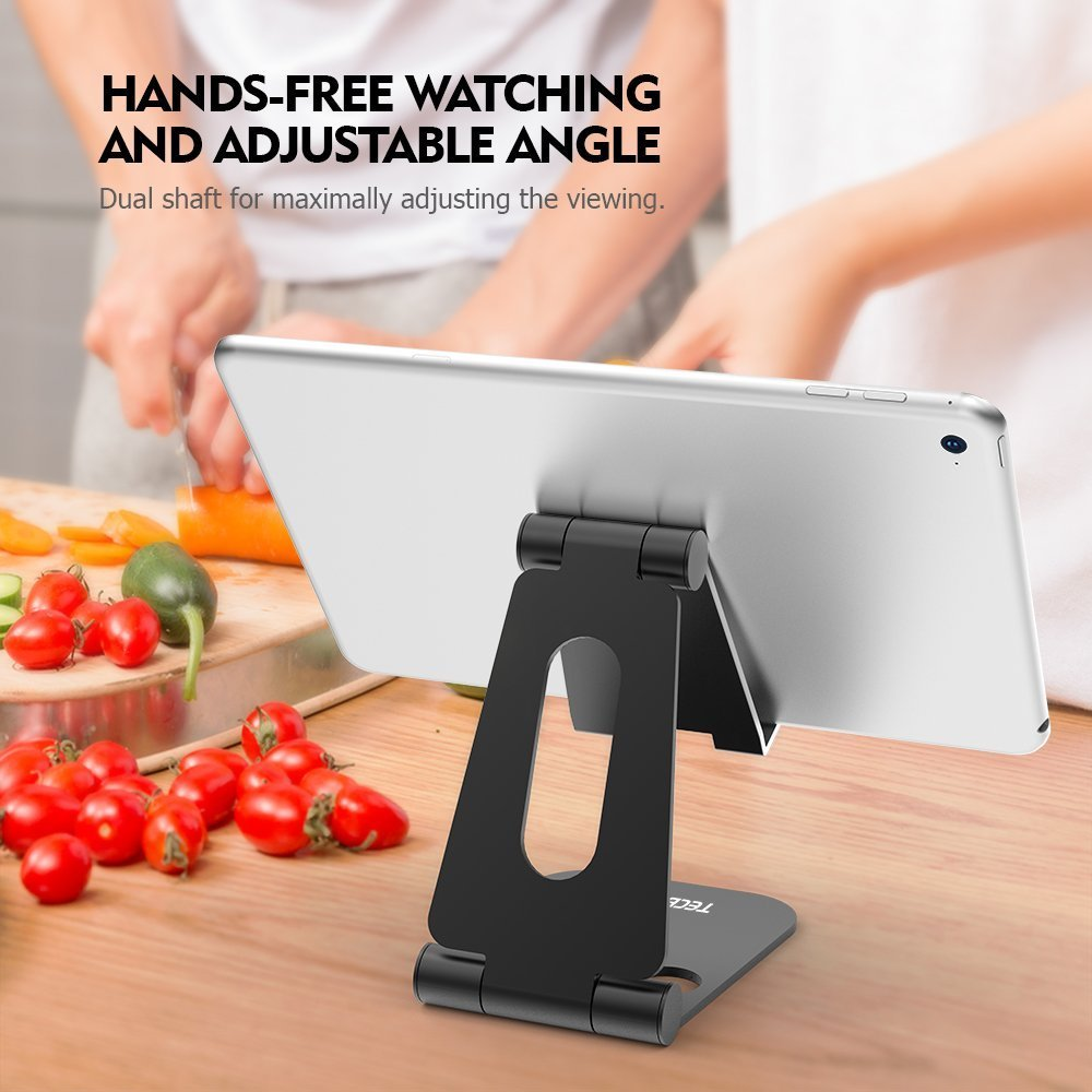 (2 in 1)Tecboss Tablet Stand, Multi-Angle Adjustable Desktop Cell Phone Stand Holder for Nintendo Switch, iPad mini Air 2 3 4 Pro, iPhone 6 7 8 X Plus - Easy Adjust & Take Anywhere by Tecboss (Image #6)