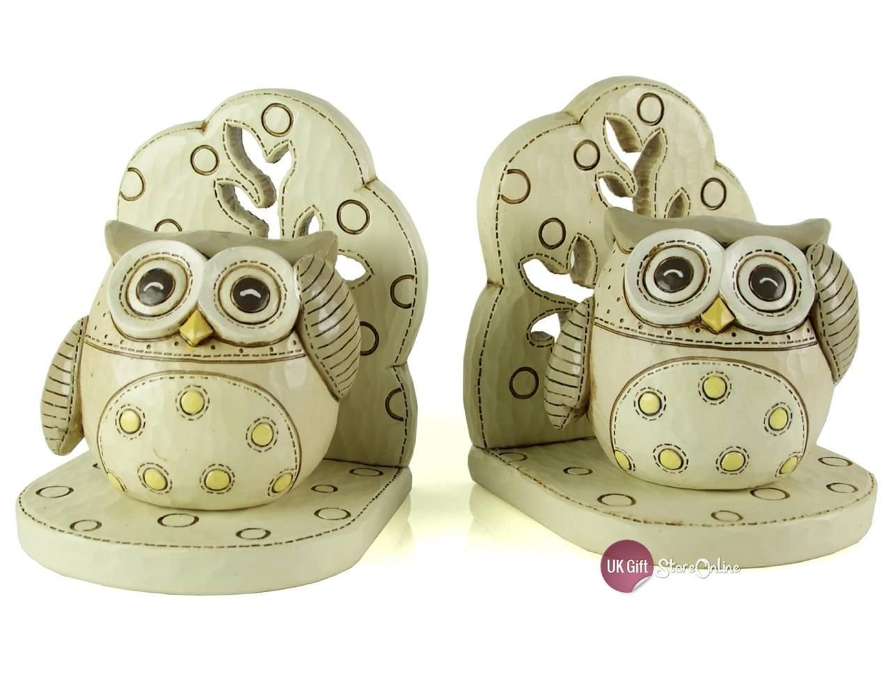 ukgiftstoreonline Baby or Nursery Owl Bookends CG395