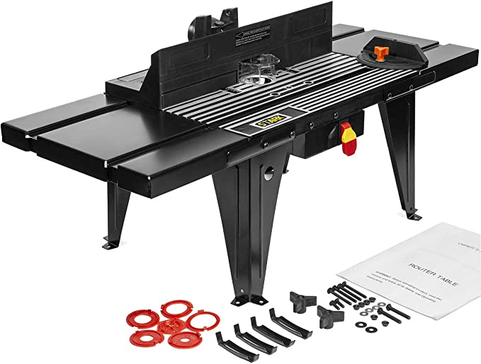 XtremepowerUS Deluxe Aluminum Electric Router Table - Versatile
