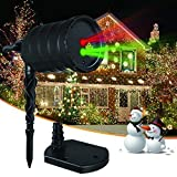 IMAXPLUS Christmas Laser Lights,Outdoor Projector Lights,Moving Red and Green Stars Laser Show for Christmas,Holiday,Party,Landscape,and Garden Decoration