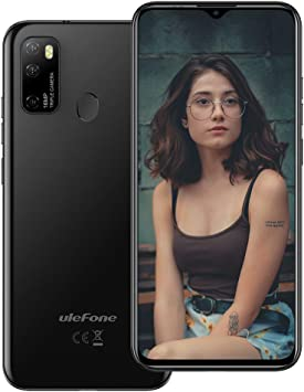 Ulefone Note 9P (2020) - Smartphone Android 10 de 6,52 Pulgadas, 16 MP, Quad Camera, Octa-Core 4 GB + 64 GB, 3 Ranuras para Tarjetas, Dual SIM, batería 4500 mAh OTG, desbloqueo de Huella Negro: Amazon.es: Electrónica