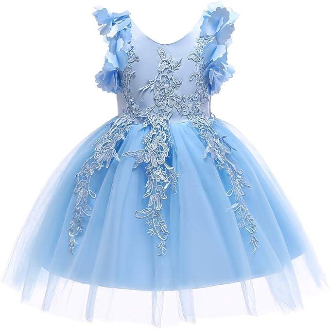 Amazon.com: Weileenice 1-12T - Vestido de encaje para niña ...