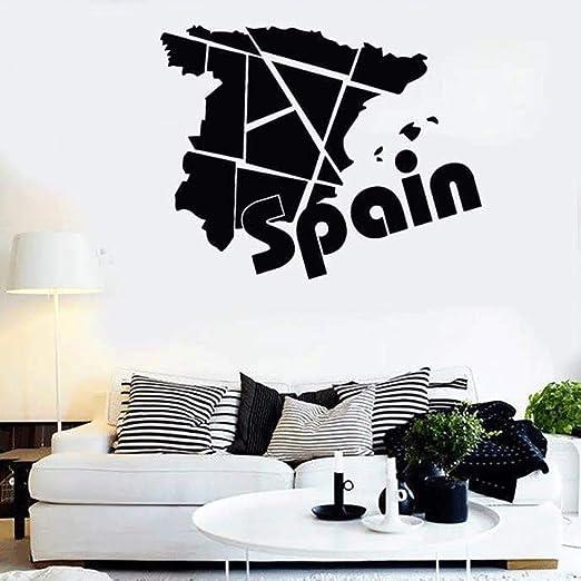 yaoxingfu Calcomanías de Vinilo España Europa Mapa de Viaje ...