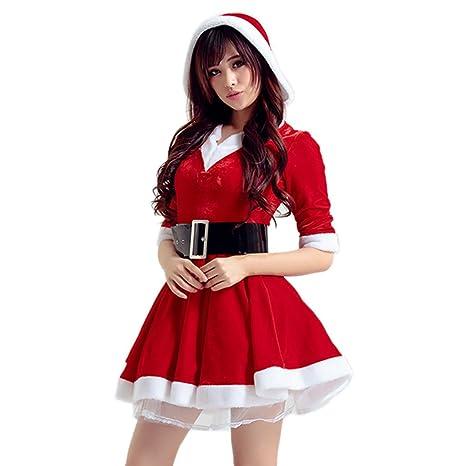 0d56ccec65063 LAEMILIA Robe Mini Capuche Slim Halloween Noël Mère Déguisement Costume Vêtements  Femmes Cosplay Scène Party Cocktaile