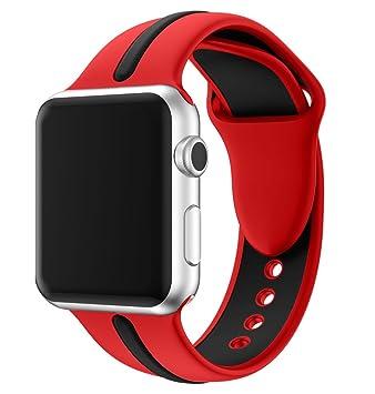 EloBeth para Apple Watch Bracelet Series 2 / Series 1, Remplacement de Silicone Souple Sport Band Strap pour Apple Watch Tous les modèles Apple ...