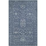 Cheap Safavieh Glamour Collection GLM516D Grey and Blue Area Rug, 3′ x 5′
