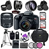 Canon EOS Rebel T7i Digital SLR Camera with Canon EF-S 18-55mm IS STM Lens + Accessory Bundle