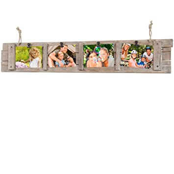 Amazon.com - Collage Picture Frame Board from Rustic Distressed Wood ...