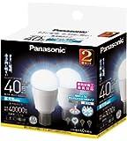 パナソニック LED電球 E17口金 電球40W形相当 昼光色相当(5.2W) 小型電球・全方向タイプ 2個入 密閉形器具対応 LDA5DGE17Z40SW2T