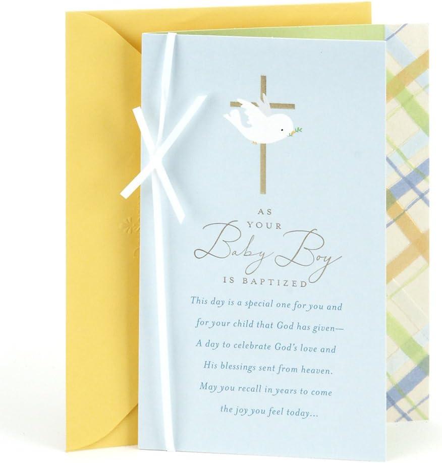 Amazon.com: DaySpring - Tarjeta de bautizo para bebé: Office ...