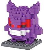 Figur Pokemon Gengar, gebaut mit Mini-Bausteinen. 140 Miniatur-Bausteine.
