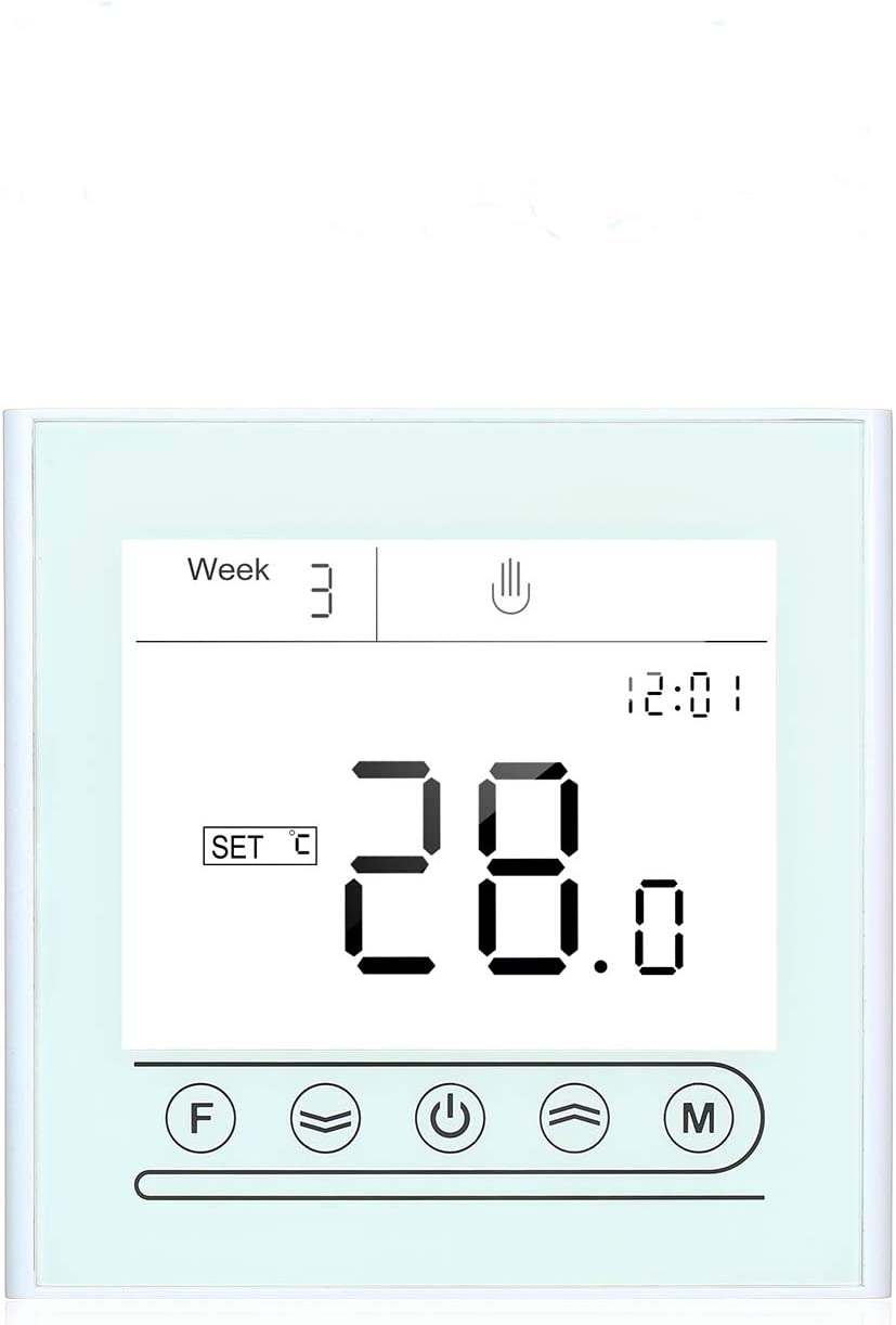 Kecheer Termostato wifi calefaccion para caldera de Gas/Agua,Termostato caldera gas/Agua,Termostatos inteligentes,Compatible con Alexa Google Home,Tuya App