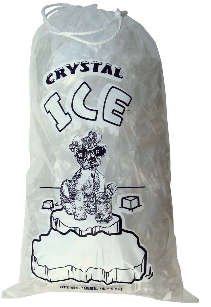 10 lb Ice Bags with Drawstring 11 in x 19 in x 1.4 mil Pack of 500 Heavy Duty Commercial Grade by USPolyPack