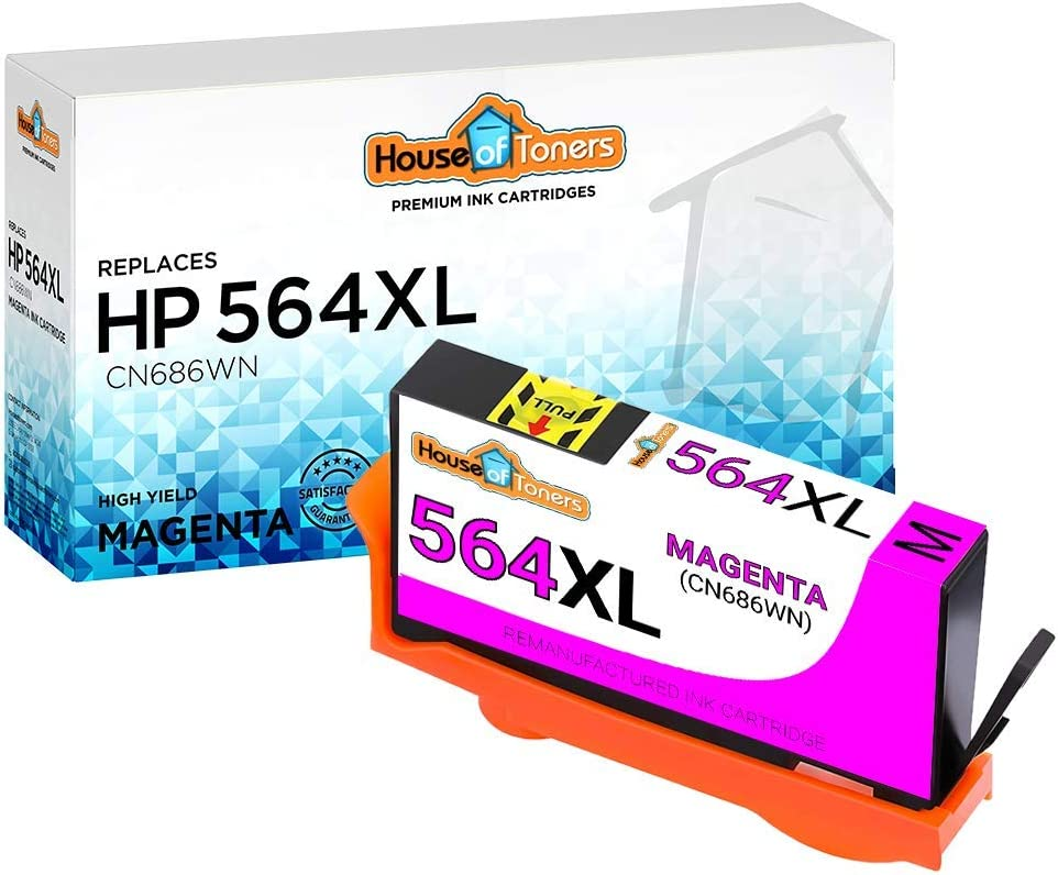 HouseOfToners Remanufactured Ink Cartridge Replacement for HP 564XL CN686WN (1 Magenta)