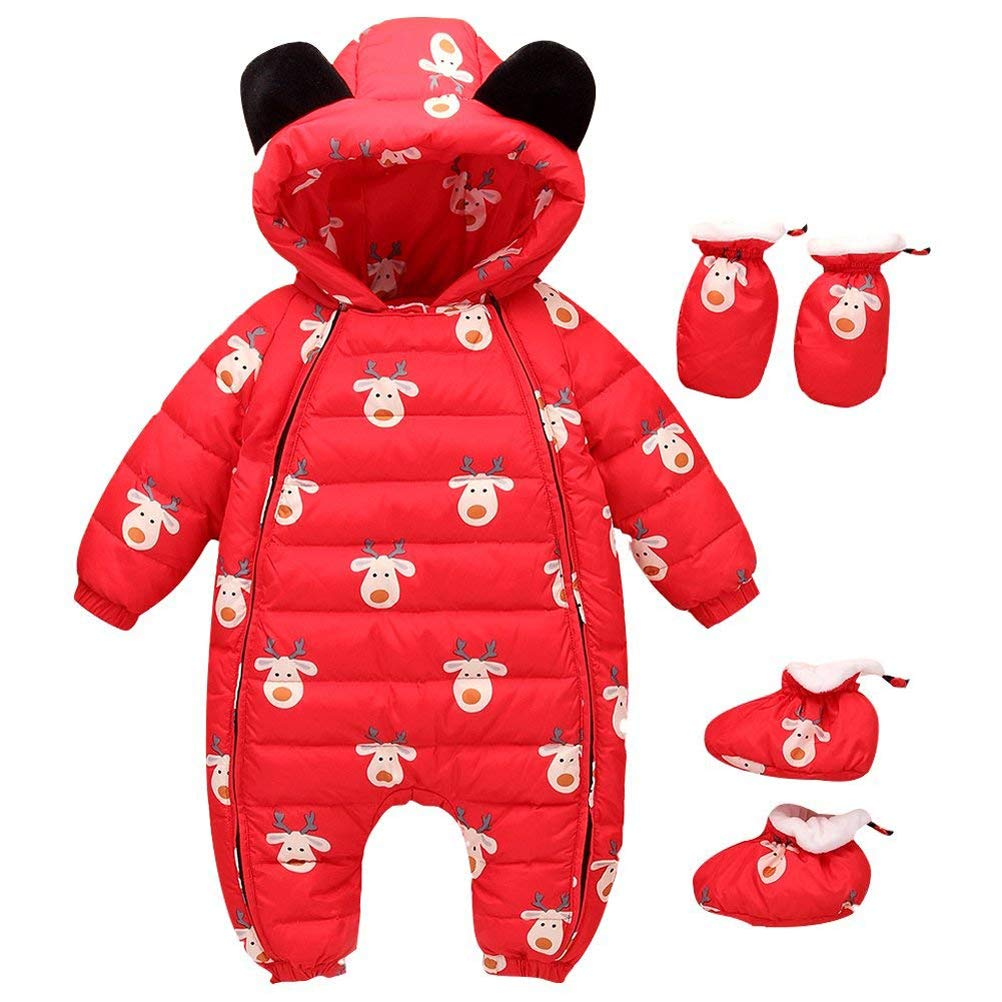 b87ddaf51ab5 Newborn Baby Girls Boys All in One Snowsuit
