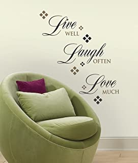RoomMates RMK1396SCS Live Love Laugh Peel u0026 Stick Wall Decals 22 Count & Life Is Beautiful Wall Quote - Decorative Wall Appliques - Amazon.com