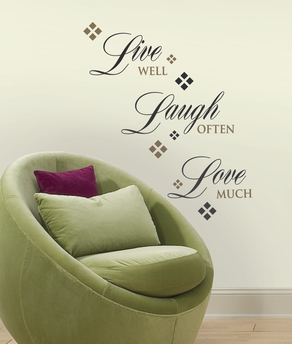 Roommates rmk1396scs live love laugh peel stick wall decals roommates rmk1396scs live love laugh peel stick wall decals 22 count decorative wall appliques amazon amipublicfo Choice Image