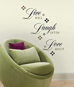 RoomMates Live Love Laugh Peel and Stick Quote Wall Decals