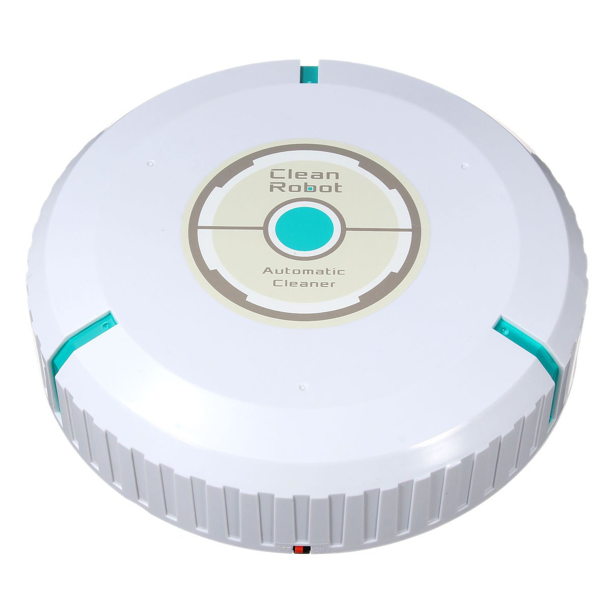 M.Way 9 inch Wireless Home Robotic Smart Auto Cleaner Robot with Microfiber Tissue Remove Dust Cleaning Helper White