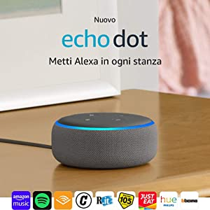 Echo Dot (3ª generazione) Ricondizionato Certificato - Altoparlante intelligente con integrazione Alexa - Tessuto grigio mélange