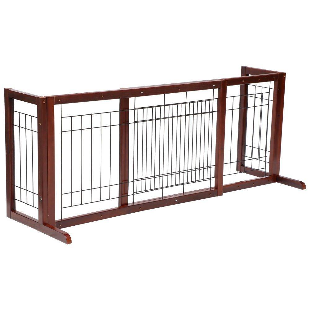 Tek Widget Adjustable Free Standing Indoor Dog Wood Gate/Fence by Tek Widget (Image #1)