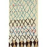 nuLOOM 200MJSM20A-508 Hand-Tufted Moroccan Berber Wool/Faux-Silk Ivory Area Rug (5-Feet X 8-Feet)