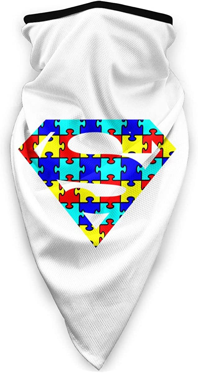 Autism Superhero Awareness Outdoor Face Mouth Mask Windproof Sports Mask Ski Mask Shield Scarf Bandana Men Woman