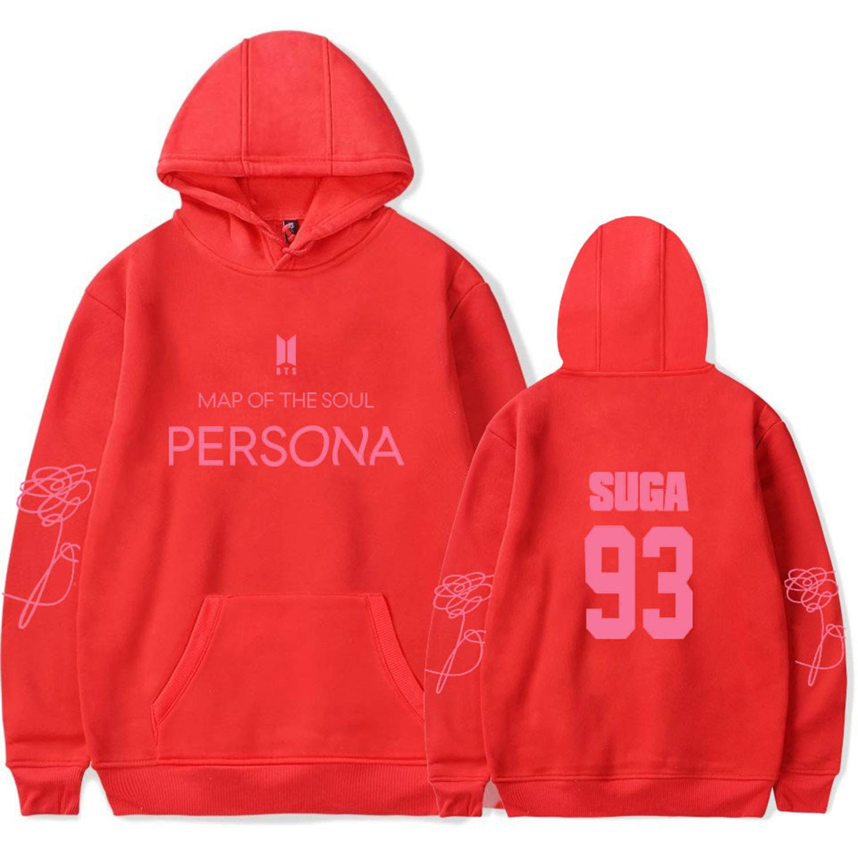 JUNG KOOK Kpop BTS New Album Map of The Soul Persona Hoodie SUGA Jimin V Sweater Sweatshirt