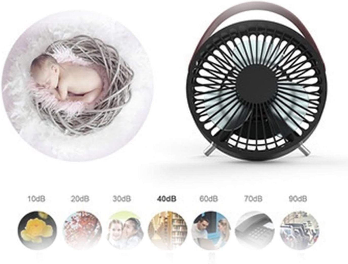 Mini Portable Cooling Fan Small Fan Desktop USB Silent Charging Fan Strong Wind Mini Birthday Gift Fan Color : Black
