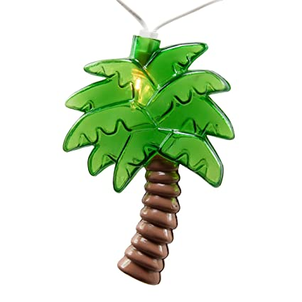 Palm Tree Patio Lights String   Summer Patio String Lights, Beach Themed  Party Decorations,