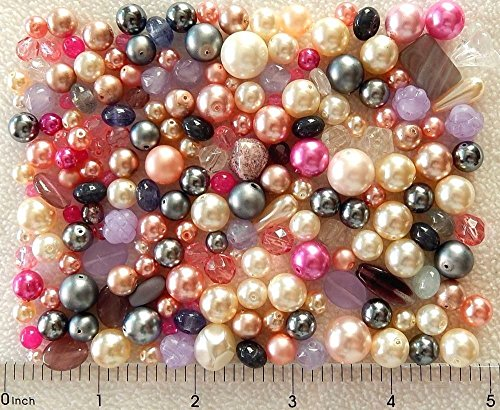 ng 1/4 Lb Pound Glass Pearls Czech Fire Polished Faceted Assorted Boho Mix Beads ()